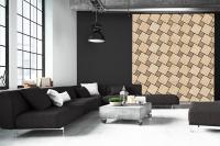Perete decorativ cu mozaic de travertin pentru living