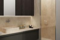 Panou de perete din travertin pentru baie